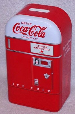 Coca-Cola Vending Machine Bank - Here's A Coke For You In Bottles, New!