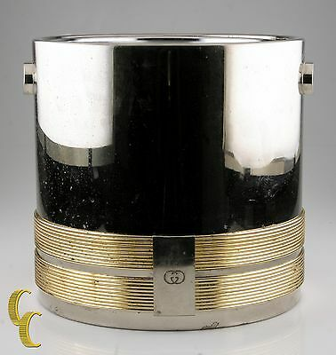 Gucci Stainless Steel & Gold Plated Ice Champagne Bucket