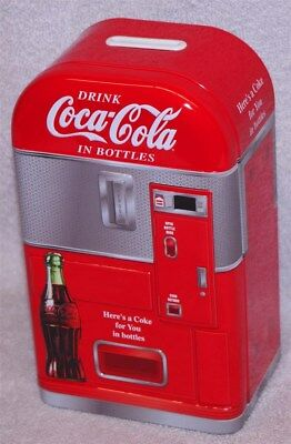 Coca-Cola Retro  Vending Machine Bank - Drink Coca-Cola, New!