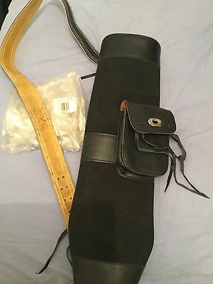 Suede/leather Archery Quiver