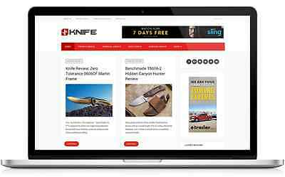 Knife Reviews Business Website with Integrated Affiliate Shop - For Sale