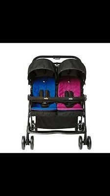 Joie Twin  Pink/Blue Pushchair/buggy/ Double Seat Stroller