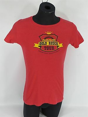 Sram Gold Rusch Tour Cycling For Women... Red T-Shirt Sram Specialized Smith Med