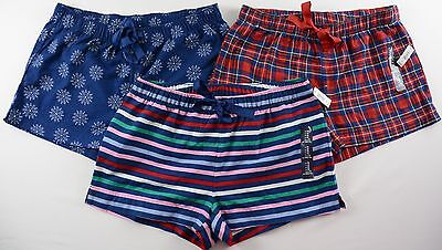 NWT Women's GAP Body Flannel Sleep Shorts Choose Size/Color
