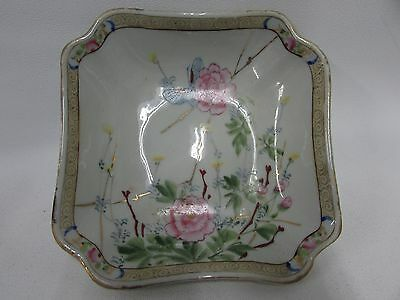 Butterfly  Rose Chinese China Porcelain Plate