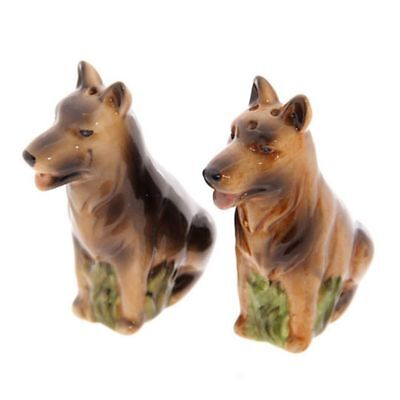 German Shepherd Alsatian Dog Salt & Pepper Shaker Cruet Set Gift UK SELLER