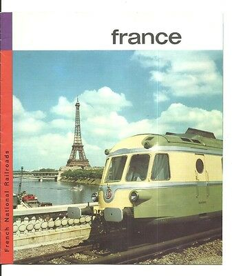 1960 France National Railroads Sightseeing France By Train Brochure