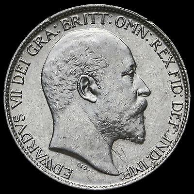 1902 Edward VII Silver Sixpence – A/UNC