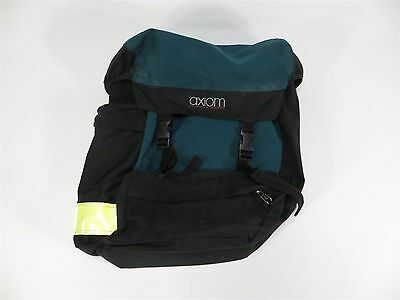 Axiom Large Green And Black Bicycle Cycling Touring Single Rear Right Pannier
