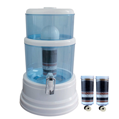 8 Stage Water Filter Top Ceramic Carbon Mineral Bottle Dispenser Purifier Oz 16L
