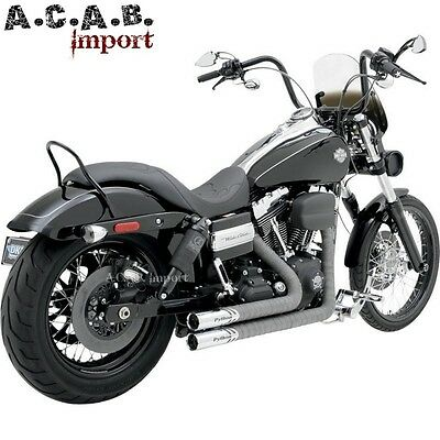 Echappements Python Throwbacks 41759 pour Dyna FXD Harley 2012 2016