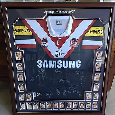 Sydney Roosters 2005 Framed and signed jersey