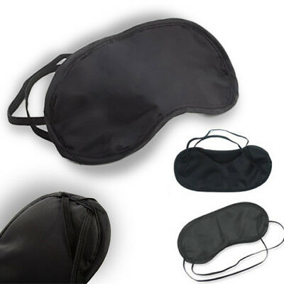 Blindfold Sleep Eye Mask Travel Shade Blinder Soft Elasticated Sleeping Rest Aid