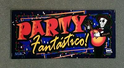 IGT Slot Machine PARTY FANTASTICO Belly Glass