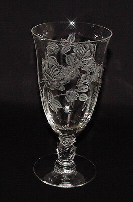 """PERFECT Hard-to-Find Heisey """"ROSE"""" Etched ICED TEA TUMBLER!!"""