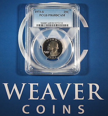 1973-S Washington Quarter PCGS PR69DCAM