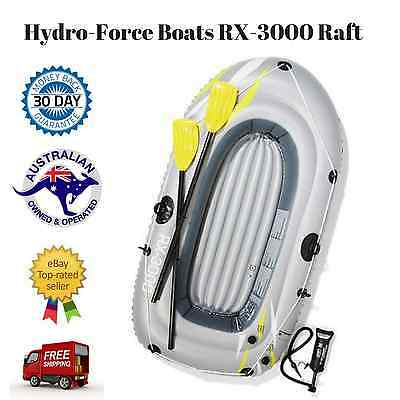 NEW Quick Inflatable Boat Raft Tender Dinghy with 2 Oars, 1 Pump, Repair Patch