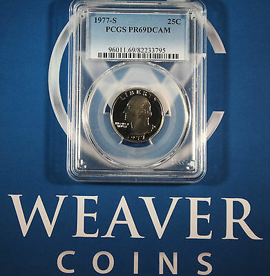 1977-S Washington Quarter PCGS PR69DCAM