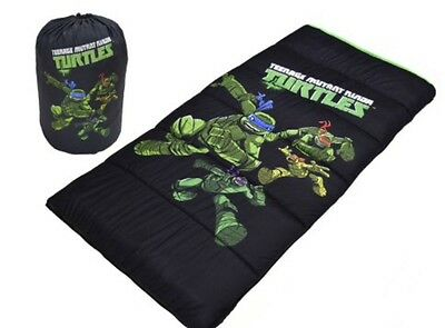 Teenage Mutant Ninja TURTLES Youth Sleeping Bag Sleepovers Camping NEW