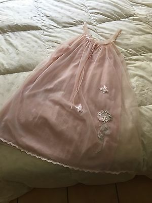 Hand Made 1960's Vintage Pink Night Gown