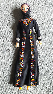 Islamic Doll Traditional Black Muslim Chador/Burka Veiling