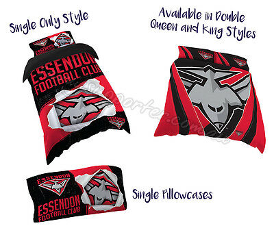 Essendon Bombers 2017 AFL Quilt Cover Doona Single Double Queen King Pillowcase