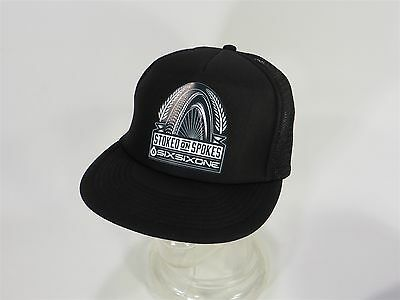 Stoked On Spokes Sixsixone Black Trucker Style Mesh Back Cycling Dh Mtb Cap/hat