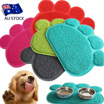 AU STOCK Dog Cat Paw Shaped Place Mat Bed Dish Bowl Feeding Food Water Placemats