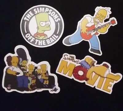 4 PACK  Simpsons Couch Waterproof Sticker Homer Bart Rock Funny Movie