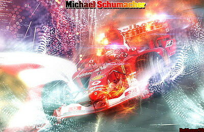 "041 Michael Schumacher - Mercedes Germany F1 Racing Driver 21""x14"" Poster"