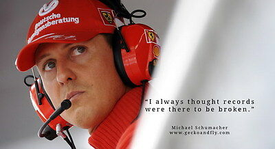 "009 Michael Schumacher - Mercedes Germany F1 Racing Driver 25""x14"" Poster"