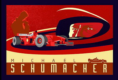 "019 Michael Schumacher - Mercedes Germany F1 Racing Driver 20""x14"" Poster"