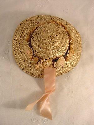 """Vtg Straw Hat For 17"""" American Character Sweet Sue & Similar Dolls"""