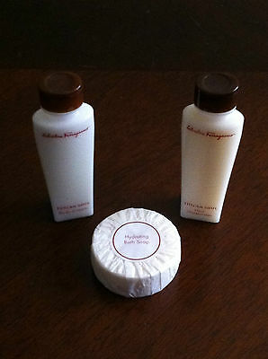 NEW Salvatore Ferragamo Tuscan Soul Soap Shampoo Hair Moisturizer Body Cream 3