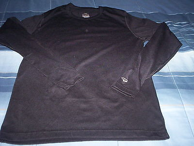 Duofold-Varitherm-Youth Crew Shirt -Warm/dry Thermal-New-Size Large-Black