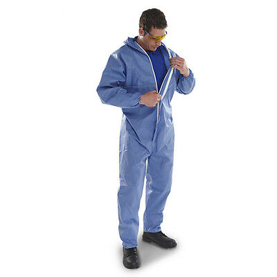 Disposable Coverall Overall Blue Type 5/6 Lightweight (CARTON OF 50)