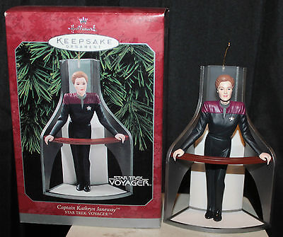 1998 Star Trek Voyager Captain Katherine Janeway Hallmark Christmas Ornament