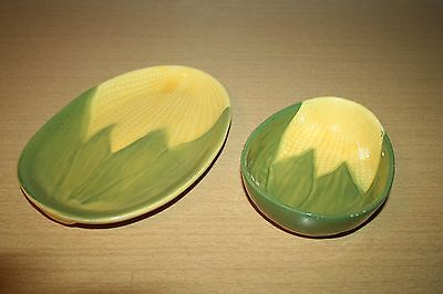 Shawnee Corn King Oven Proof Oval Plate #68 & Bowl #94