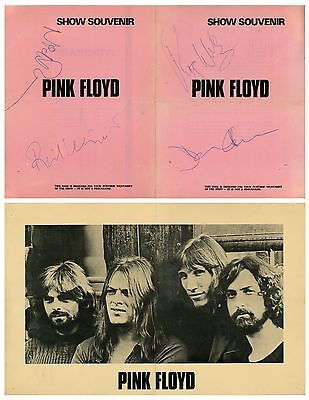 Pink Floyd 1972 Dark Side Of The Moon Program Authentically Autographed By Band!