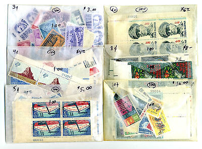POSTAGE CHEAP: 100 Each Mint 3c to 22c US Stamps for 75% of $124 Face