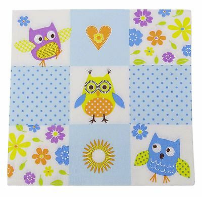 Disposable Soft Printed Napkins Origami 3 Ply Square Tissue Paper Pack Of 20 Pcs