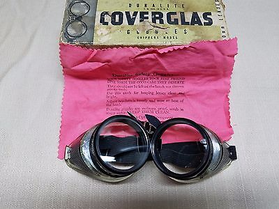 Vintage Duralite 50mm Goggles - Motorcycle, Steampunk, Auto - Excellent