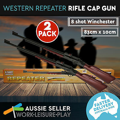 Brand New 2x Western Repeater Rifle Cap Gun Cowboy Toy Gun 83cm Long x 10cm Tall