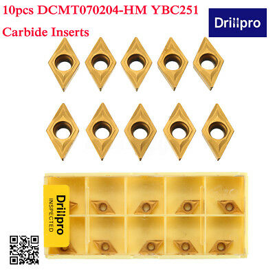 10PCS Lot Carbide Inserts DCMT070204 YBC251 For Lathe Turning Tool Boring Bar