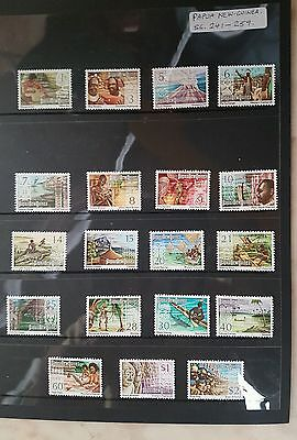 Stamps - papua new guinea set sg 241 - 1973 year - muh - 19 stamps - lot 14