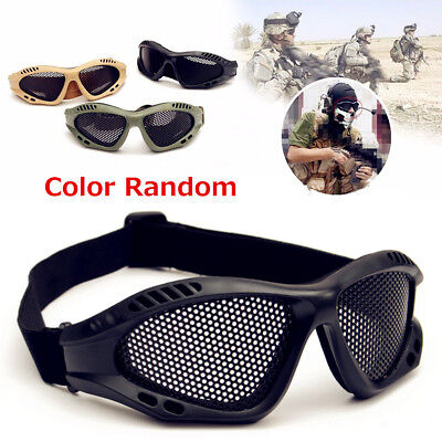 Durable Outdoor Eye Protective Safety Tactical Metal Mesh Glasses Goggle OP