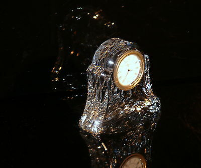 Waterford Ireland Retired Crystal Abbey Clock   Superb !