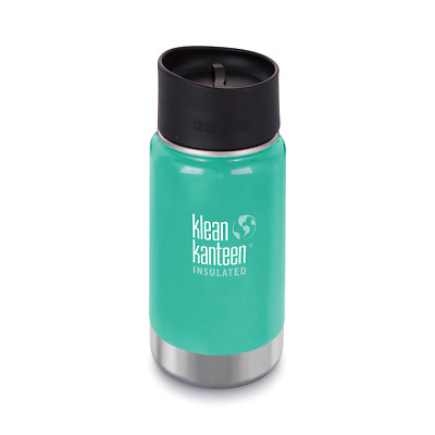 NEW KLEAN KANTEEN INSULATED WIDE 12oz 355ml NEPTUNE BLUE Tea Coffee Water Soup