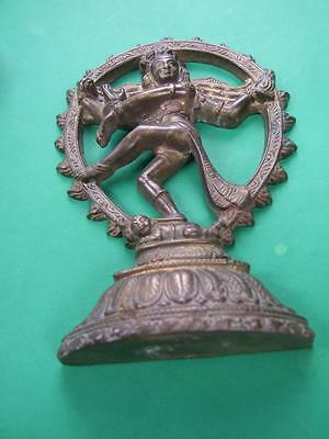 Antique Shiva Nataraja Hindu God Statue Solid Brass