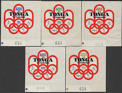 Tonga 1976 SG558 First Participation in Olympic Games set MNH